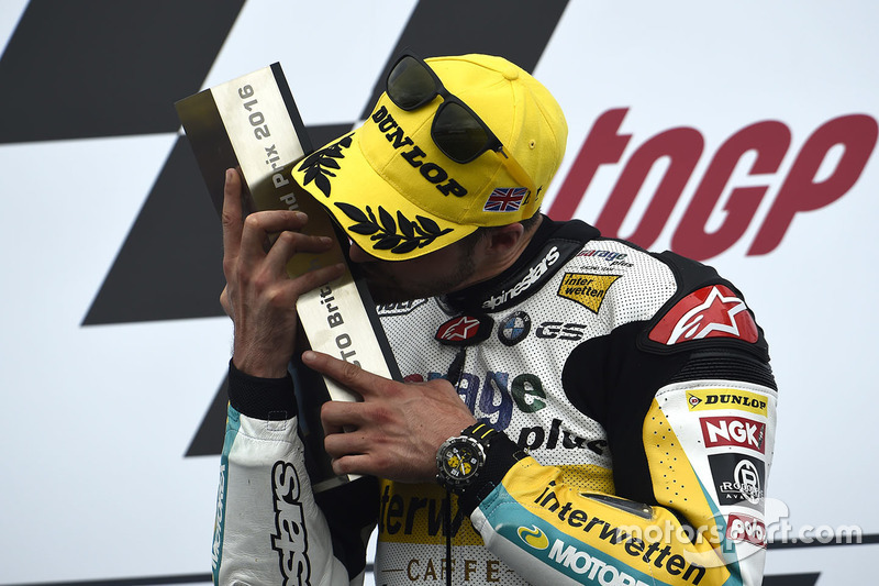 Podium: race winner Thomas Lüthi, Interwetten