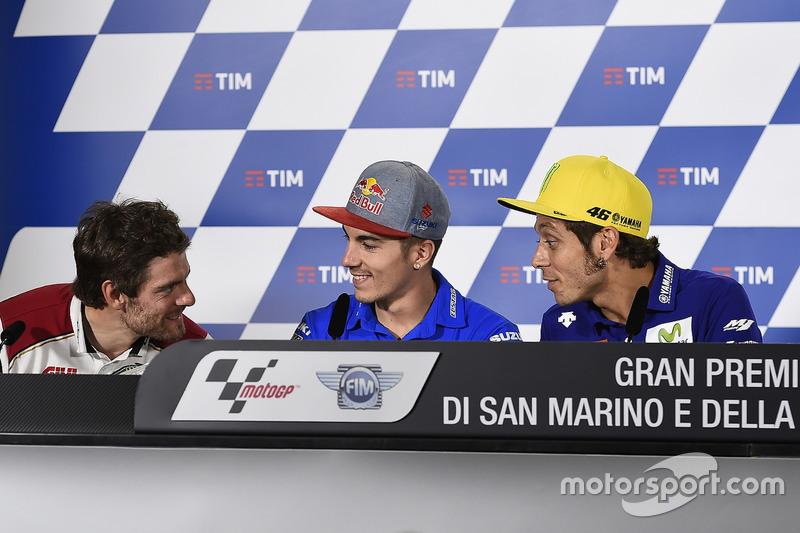 Cal Crutchlow, Team LCR Honda, Maverick Maverick Viñales, Team Suzuki Ecstar MotoGP, Valentino Rossi, Yamaha Factory Racing