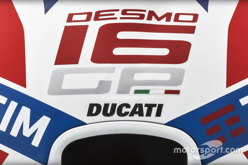 Ducati Team logo detail