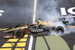 Race winner James Hinchcliffe, Schmidt Peterson Motorsports Honda