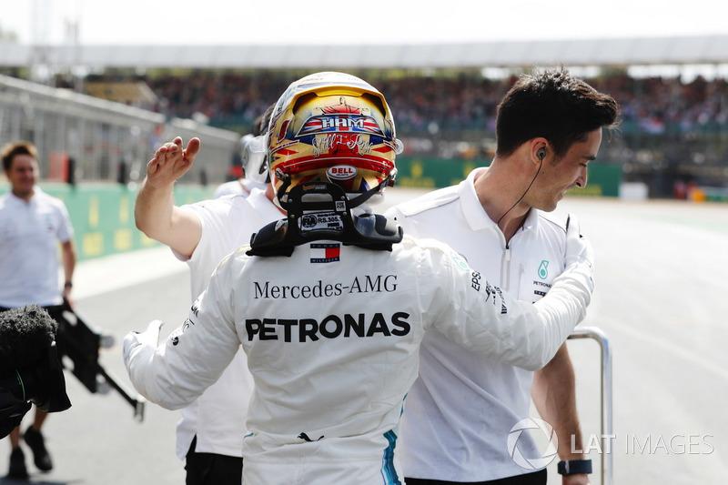 O pole position Lewis Hamilton, Mercedes AMG F1