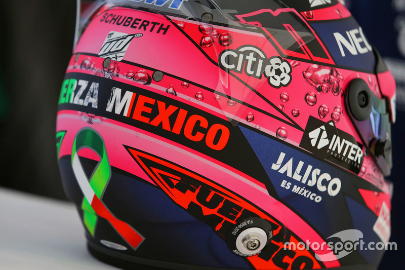 Capacete de Sergio Perez, Sahara Force India F1