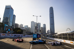 Jerome D'Ambrosio, Dragon Racing leads Sébastien Buemi, Renault e.Dams & Neel Jani, Dragon Racing
