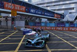 Antonio Felix Da Costa, Andretti Formula E, leads Sam Bird, DS Virgin Racing