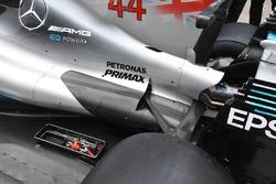 Il retrotreno della Mercedes-Benz F1 W08