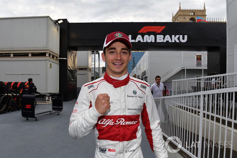 Baku (Aserbaidschan): Charles Leclerc, Sauber