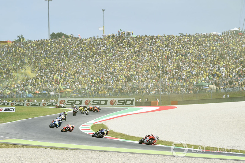 Jorge Lorenzo, Ducati Team, first lap