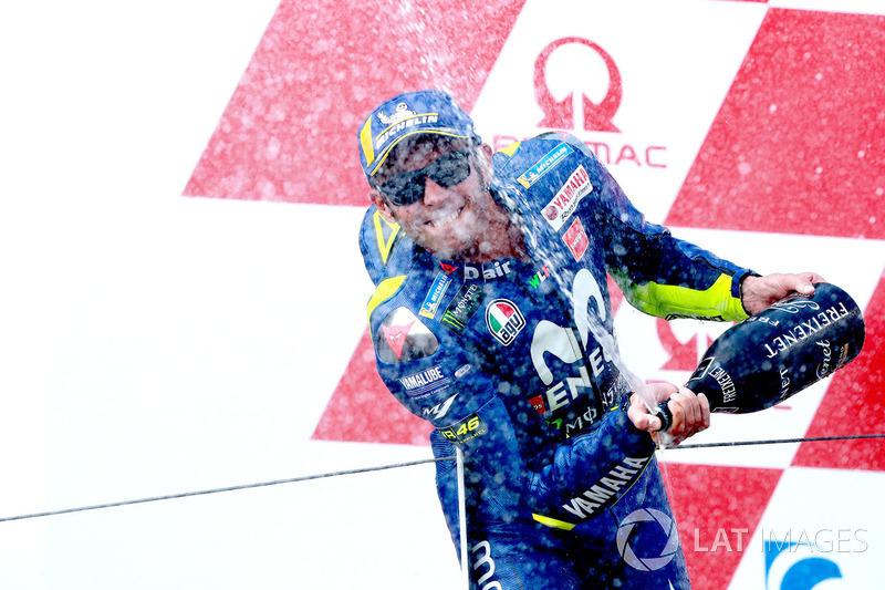 Podio Valentino Rossi, Yamaha Factory Racing