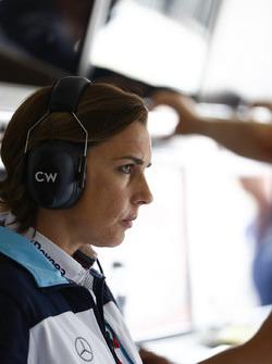 Claire Williams, subdirectora del equipo, Williams