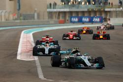 Valtteri Bottas, Mercedes AMG F1 W08, Lewis Hamilton, Mercedes AMG F1 W08, Sebastian Vettel, Ferrari SF70H, Kimi Raikkonen, Ferrari SF70H, Daniel Ricciardo, Red Bull Racing RB13