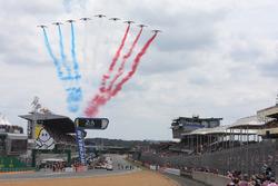 Flyover vor dem Start der 24h Le Mans 2018