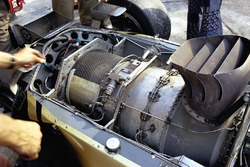 The Pratt & Whitney gas turbine engine in the back of the Lotus 56B