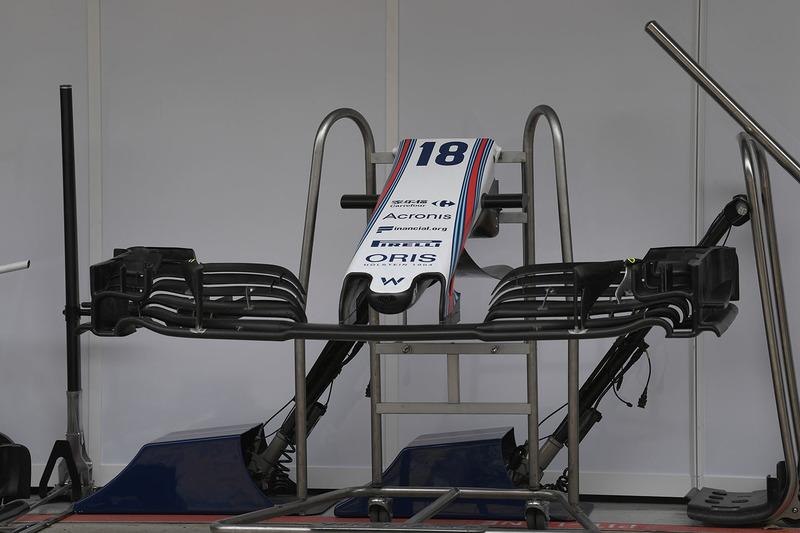 Williams FW41 : nez et ailerons avant