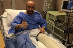 Francesco Cigarini dopo l'operazione