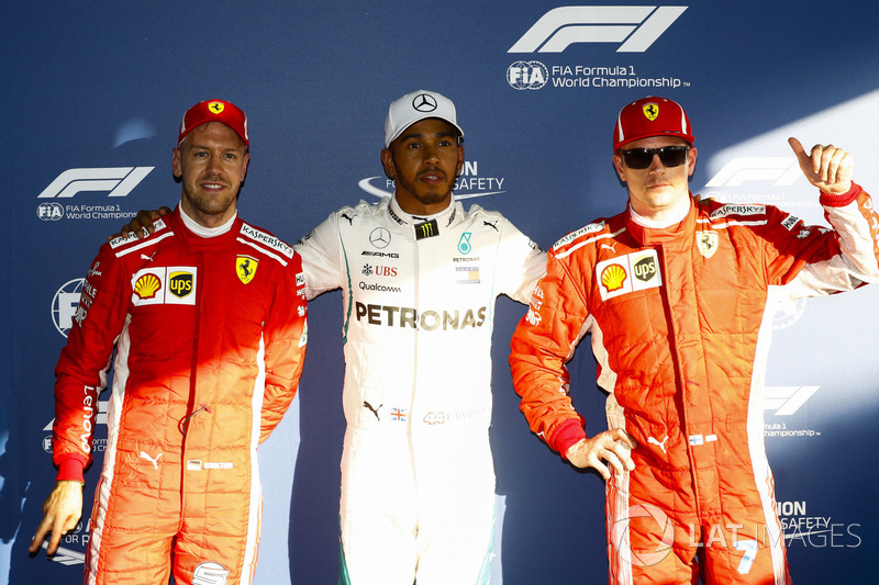 Lewis Hamilton, Mercedes AMG F1, Kimi Raikkonen, Ferrari, Sebastian Vettel, Ferrari