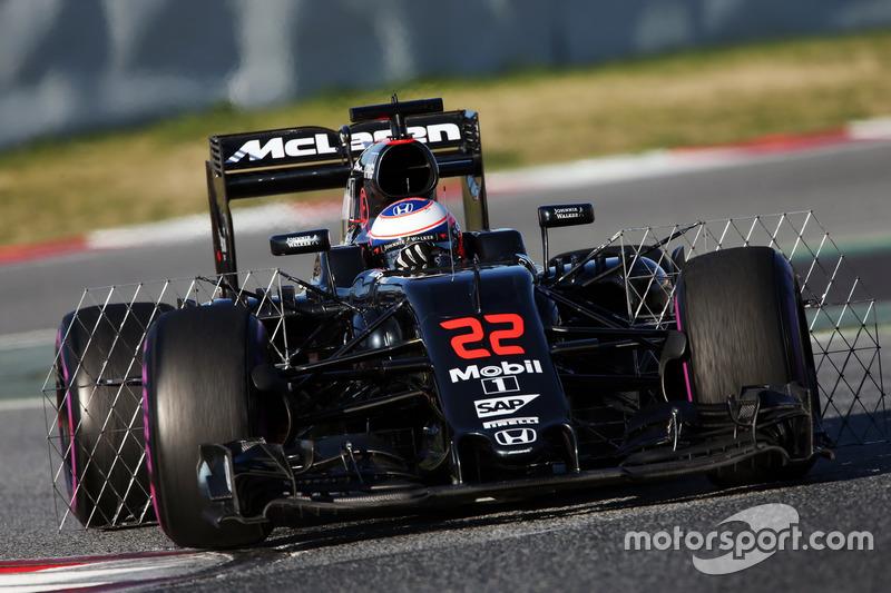 Jenson Button, McLaren MP4-31 funcionamiento equipo de sensor
