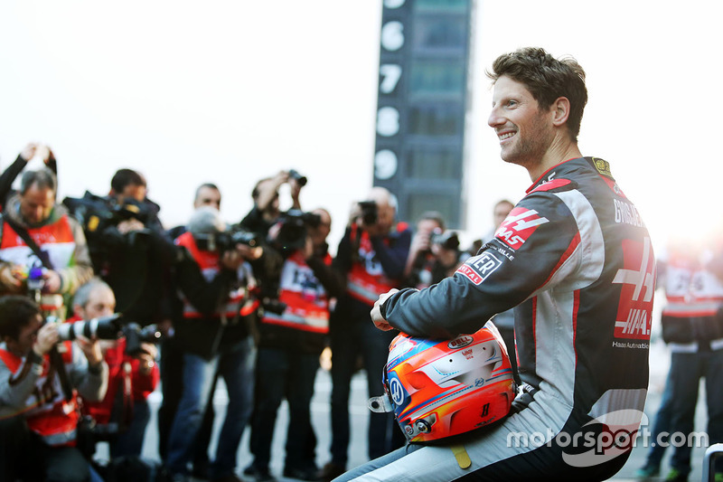 Romain Grosjean, Haas F1 Team VF-16 during the team's unveiling
