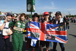 Justin Wilson fans and banner