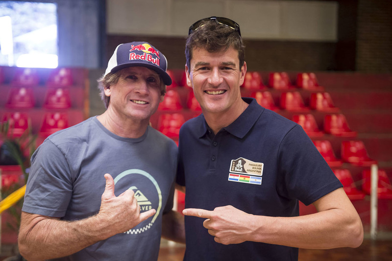 Robby Naish, Marc Coma, Sporting Director of the Dakar