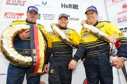 Wolfgang Destree, Oleg Kvitka, Edgar Salewksy, Porsche 911 GT3 Cup