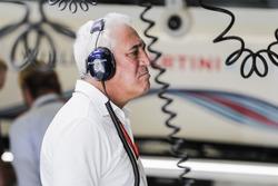 Lawrence Stroll en el garaje de Williams