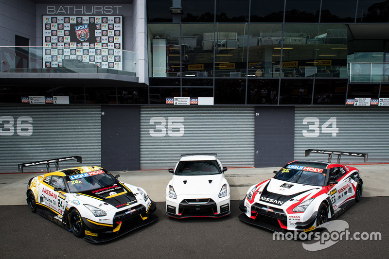 Nissan Motorsport, Nissan GT-R Nismo GT3 Sesión de fotos de Grupo