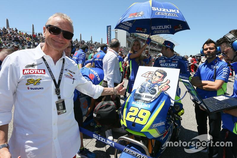 Kevin Schwantz, Alex Rins, Team Suzuki MotoGP get well soon