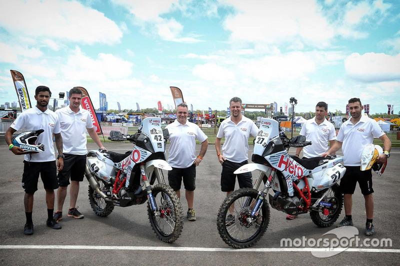 Joaquim Rodrigues, Hero MotoSports Team Rally und CS Santosh, Hero MotoSports Team Rally mit Wolfga