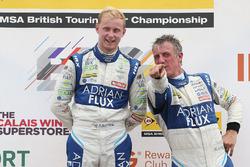 Podium: race winner Jason Plato, Team BMR Subaru Levorg, second place Ashley Sutton, Team BMR Subaru Levorg