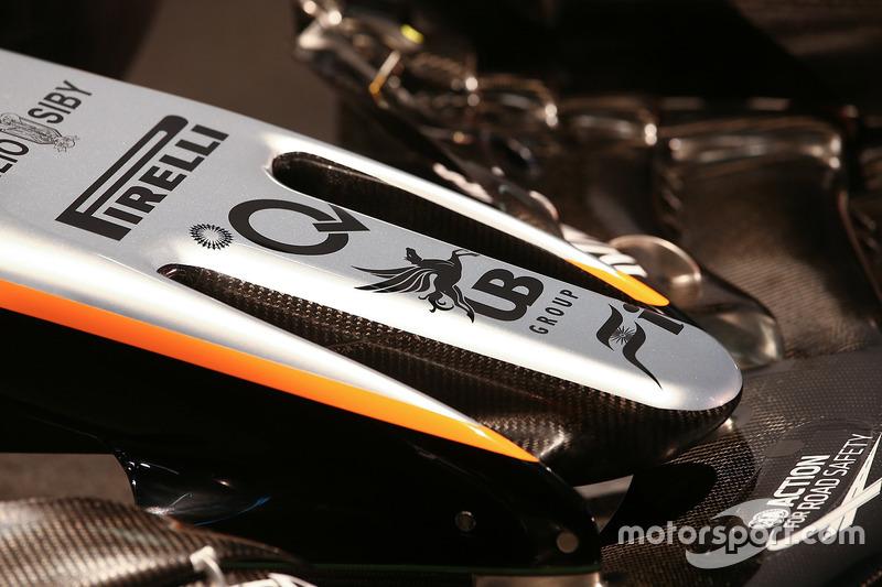 Force India F1 VJM10: Nase
