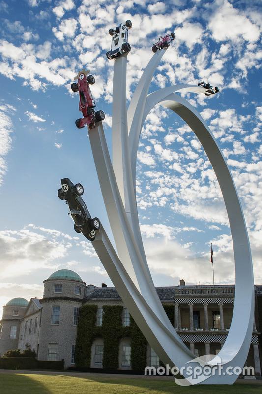 Festival of Speed sculpture dedicated to Ecclestone
