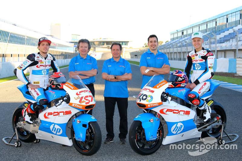 Edgar Pons y Fabio Quartararo, Pons HP 40 con el equipo