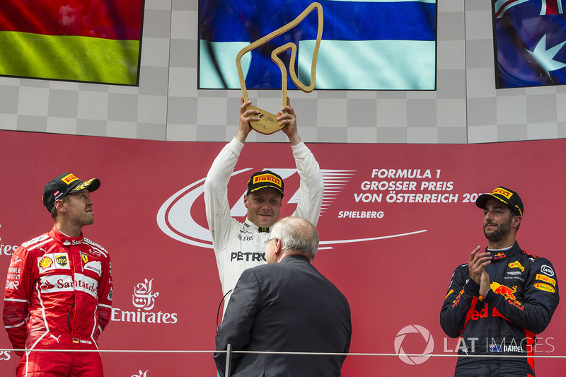 Подіум: переможець гонки гонки Валттері Боттас, Mercedes AMG F1
