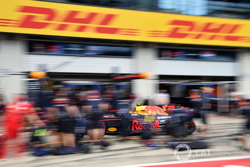 Макс Ферстаппен, Red Bull Racing RB13, піт-стоп