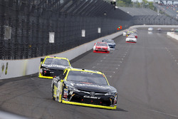 Matt Tifft, Joe Gibbs Racing Toyota and Paul Menard, Richard Childress Racing Chevrolet
