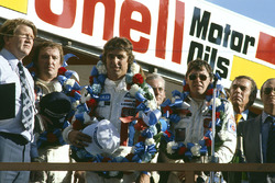 Podium: winner Rick Mears, second place Tom Sneva, third place Johnny Rutherford