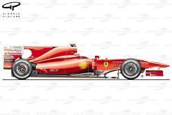 Ferrari F10 side view, launch car