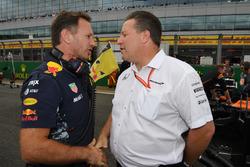Christian Horner, Red Bull Racing Takım Patronu ve Zak Brown, McLaren CEO