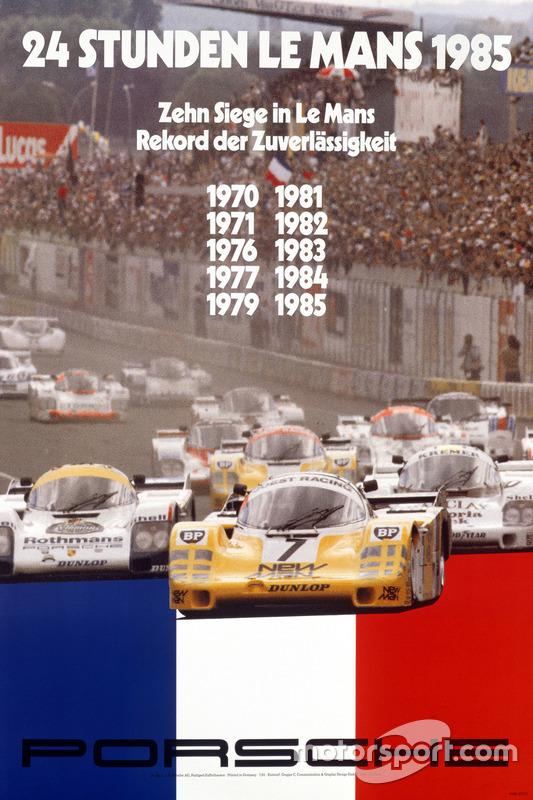 Poster: Porsche-Sieg bei den 24h Le Mans 1985