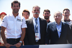 Mark Webber, Chase Carey, FOM CEO, Jean Todt, FIA President