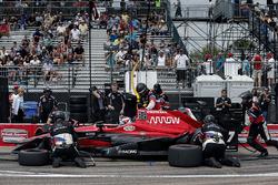 Arrêt au stand de Mikhail Aleshin, Schmidt Peterson Motorsports Honda