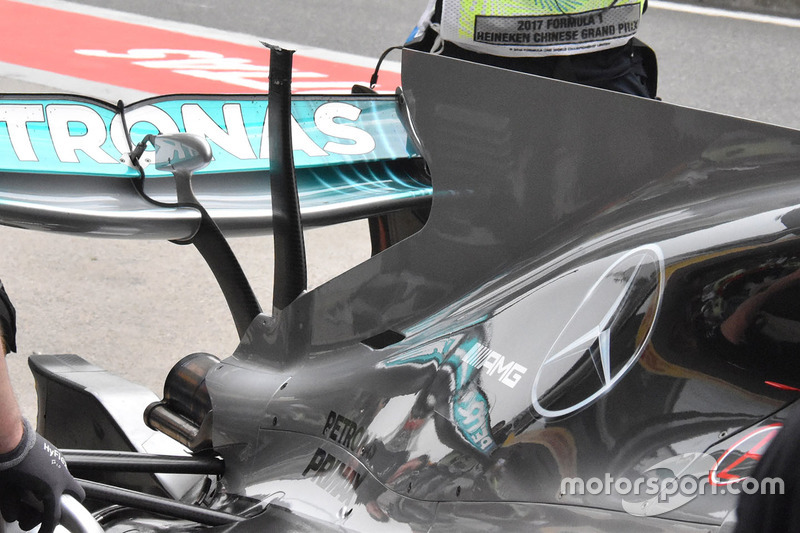 Mercedes AMG F1 W08, Detail T-Wing
