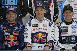 Sebastien Loeb, Team Peugeot-Hansen, Peugeot 208 WRX, Mattias Ekström, EKS, Audi S1 EKS RX Quattro, Petter Solberg, PSRX Volkswagen Sweden, VW Polo Gti