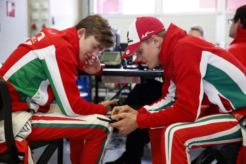 Callum Ilott, Prema Powerteam, Dallara F317 - Mercedes-Benz and Mick Schumacher, Prema Powerteam, Dallara F317 - Mercedes-Benz