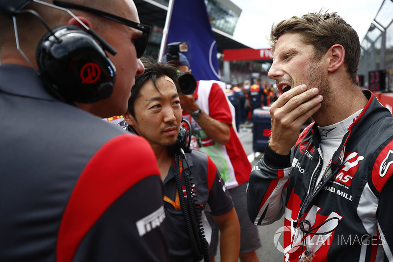Ромен Грожан, Haas F1 Team, головний іненер Haas F1 Team Аяо Коматсу