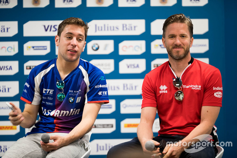 Press Conference:  Robin Frijns, Amlin Andretti Formula E Team,  Nick Heidfeld, Mahindra Racing