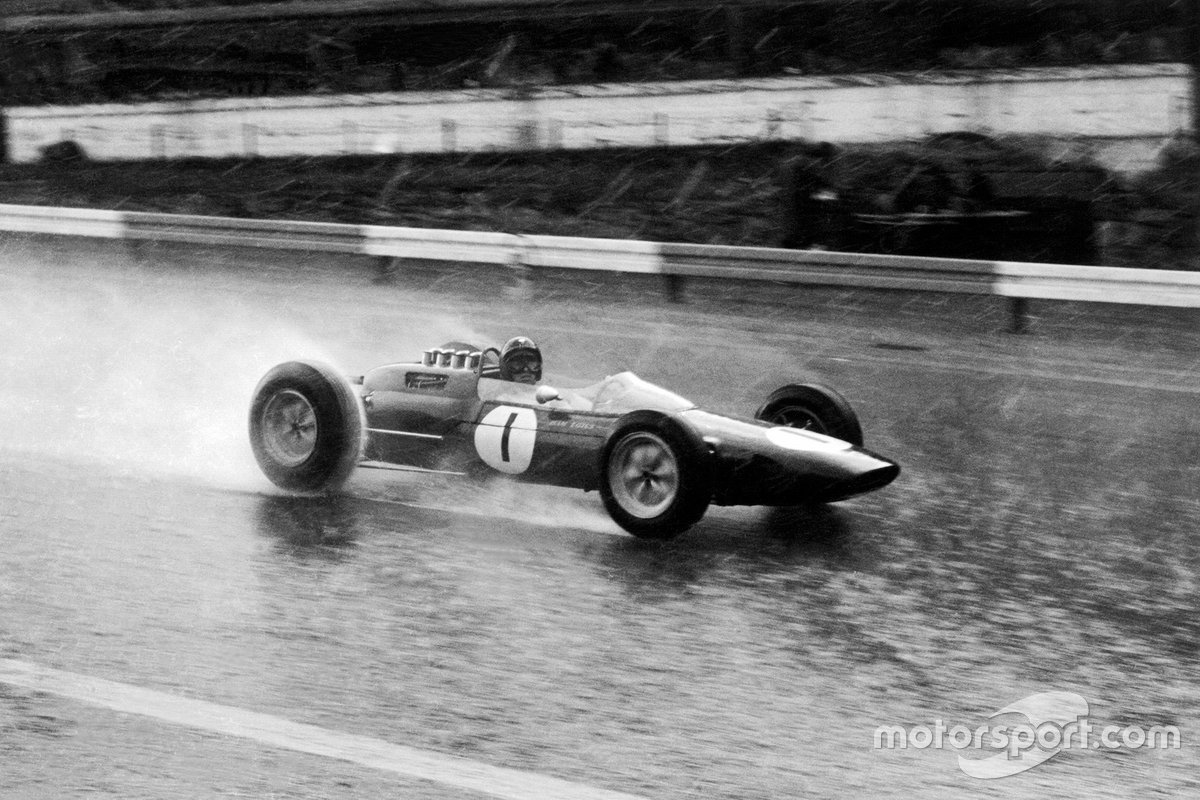 Clark's Lotus 25 heads to victory at Spa in 1963. It was the second of four F1 wins for Clark at this venue, despite it being one he loathed.