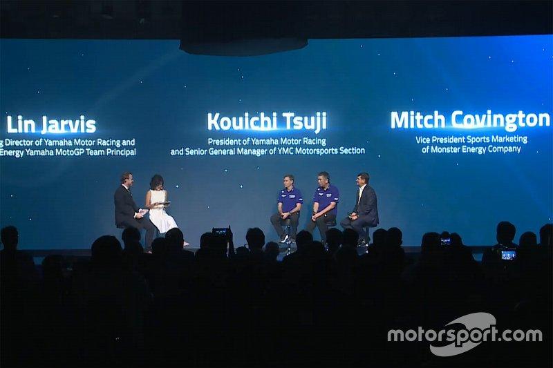 Yamaha Factory Racing launch atmosphere