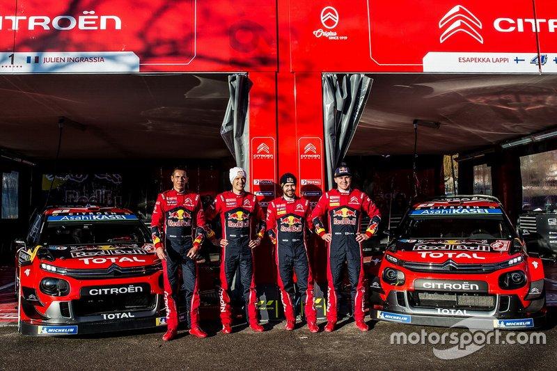 Sébastien Ogier, Julien Ingrassia, Citroën World Rally Team Citroen C3 WRC, Esapekka Lappi, Janne Ferm, Citroën World Rally Team Citroen C3 WRC