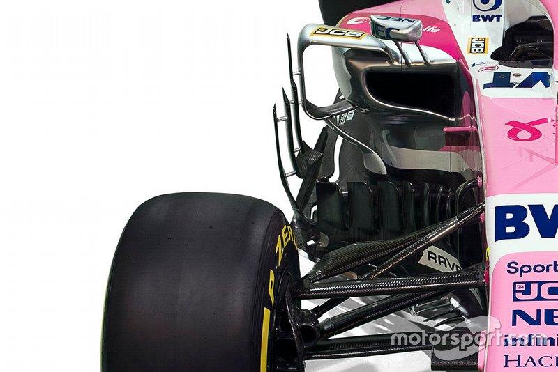 Dettaglio della livrea della Racing Point